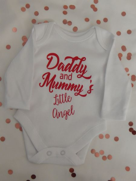 Daddy & Mummy's Little Angel Personalised Baby Vest